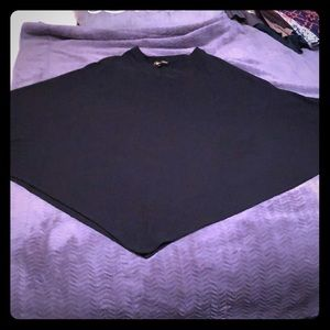 Black cape shirt